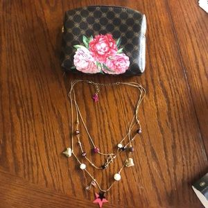 Vintage Betsy Johnson charm necklace